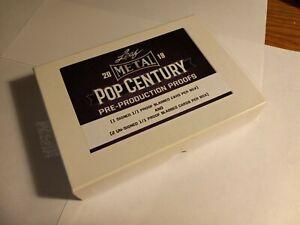 Leaf 2019 Pop Century Box. Opened trading card  1 auto 2 non auto #1/1 slabbed