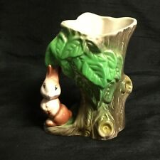 💚 A VERY SWEET VINTAGE 'WITHERNSEA EASTGATE POTTERY' FAUNA RABBIT VASE #55