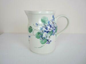 "Vintage Roseville Ohio ""Rundquist Artist Signed"" Floral Ceramic Water Pitcher"