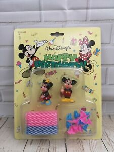 Disney Mickey Mouse & Minnie Mouse birthday candles set, sealed, 1990's, genuine
