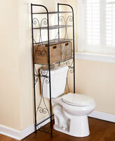 Seagrass Over The Toilet Space Saver w 2 Baskets Bathroom Bath Storage Furniture