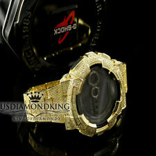 Authentic G-Shock G Shock Custom Men's Simulated Canary Diamond Watch GD-100 New