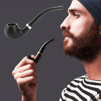 Portable Resin Pipe Dry Tobacco Pipe Filter Screen Herb Gift Black Fashion 87B7