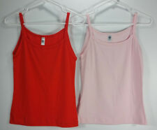 NEW Lot 2 American Apparel Juniors Tank Top Size Large Orange Pink Muscle Shirt