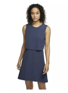 Nike Women's XS- GOLF FLEX ACE DRESS - Blue-CI9806-451 New NWT N119