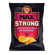 Walkers Max Strong Hot Chicken Wing Crisp 50g x 24 bag