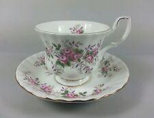 ROYAL ALBERT LAVENDER ROSE TEA TAZZA E PIATTINO 1a qualità (PERFETTO)