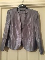 JACQUES VERT STUNNING SILVER   FULLY LINED DRESSY  JACKET SIZE 16 NWOT