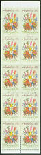 Australia #1193a Mnh booklet 43c Thinking of You Flowers 1990 cv $8