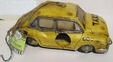 "Urban Desheveled Yellow Taxi Cab Bird House Resin 9.5"" Long $20 Retail Tag"