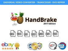 Handbrake Video Converter Software / DVD Ripper 2017 Windows Mac + FREE BONUS