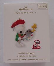 Hallmark 2010 Spotlight on Snoopy #13 Series Artist Peanuts Christmas Ornament