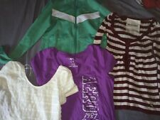 EUC LOT OF 4 Hollister Aeropostale Tops Sz XL Multi Colors Long & Short Sleeve