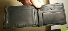 Men's DKNY Black Leather Wallet     Free Shipping  No Reserve
