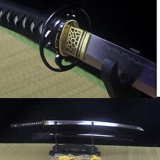 T10 Steel Clay Tempered Blade Full Tang Katana MARTIAL ART Japanese Sword Iaido