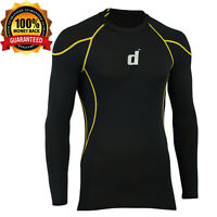 Didoo Men's Compression Base Layer Tight Fit Long Sleeve Cycling T-Shirts Jersey