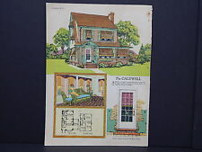 Houses, Homes, American Builder c.1927, One Double Sided Print #06