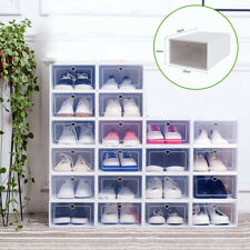 20 Schuhboxen transparent stapelbar Schuhaufbewahrung Box Kunststoff Schuhkarton