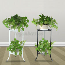 Outdoor Indoor Flower Pot Plant Stand Metal Corner Shelf Garden Home Decor