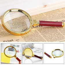 90mm Handheld 10X Magnifier Magnifying Glass Loupe Reading Jewelry Big Large Aid