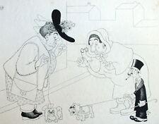 Guerre Manque de Viande Chiens Humour Caricature Albert Dubout 1944