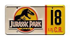 Jurassic Park | Jeep Wrangler Sahara CJ7 YJ | #18 | STAMPED Prop License Plate