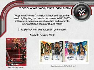 SASHA BANKS 2020 TOPPS WWE WOMEN'S DIVISION Half CASE 4 BOX WRESTLER BREAK #41