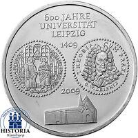 Deutschland 10 Euro 2009 Universität Leipzig bankfrische Münze in Münzkapsel