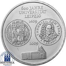 Deutschland 10 Euro Silber 2009 bfr 600 Jahre Universität Leipzig in Münzkapsel