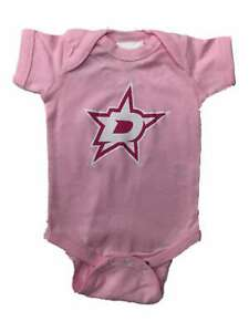 Dallas Stars SAAG INFANT BABY Girl's Pink Lap Shoulder One Piece Outfit (18M)