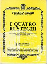 I QUATTRO RUSTEGHI = GOLDONI - E. WOLF FERRARI # LIBRETTO D'OPERA - G. PIZZOLATO