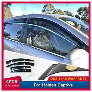 AUS Weather Shields Weathershields Window Visors for Holden Captiva 2006-2019