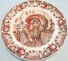 "Lot of 2 VINTAGE Johnson Brothers ""His Majesty"" Turkey Dinner Plates 10.5"""