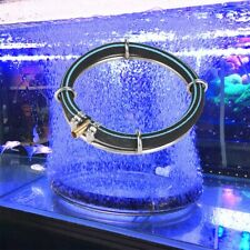 Aquarium Fish Tank Round Air Bubble Disk Circle Stone Hydroponics Oxygen