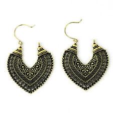 1 Pair Women's Vintage Bronze Silver Retro Long Earrings Drop Dangle Jewellery