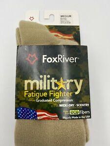 Fox River Socks Military Wick Dry Maximum Mid Calf Boot Sock Medium Light Brown