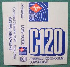 CUSTODIA MC Musicassetta AGFA C120 vintage audio tape compact cassette USATA