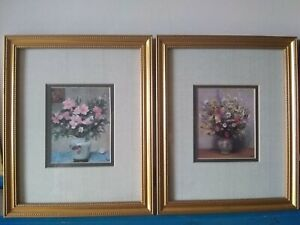 D'Azalles Roses and My Mother's Bouquet Prints by Marcel Dyf