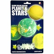 Glow in the Dark Planet and Stars - Fun Childrens Room Ceiling Decorations