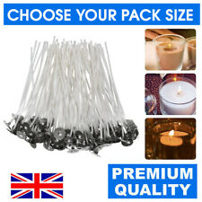 HIGH QUALITY PRE WAXED CANDLE WICKS WITH SUSTAINERS LONG TABBED 150mm CRAFT