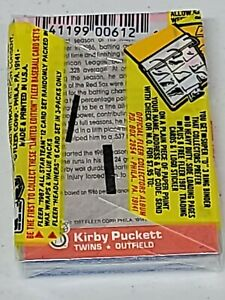 1987 Fleer Cello  Pack Kirby Puckett All star back Possible Bonds RC Free Ship