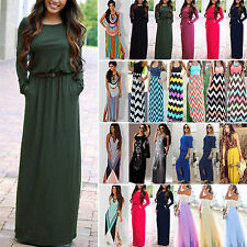 AU Womens Floral Maxi Long Dresses Summer Beach  Evening Cocktail Party Sundress
