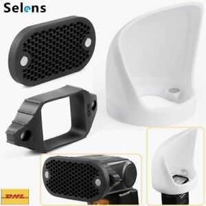 Selens 3in1 Flash Modifier Magnetic Light Bounce Diffuser Band Honeycomb Grid