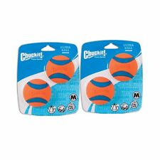 Chuckit! Dog Fetch Toy ULTRA BALL Durable Rubber Fits Launcher MEDIUM 4 Balls