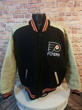 Vintage Philadelphia Flyers NHL Hockey Leather Varsity Letterman Jacket Mens XL