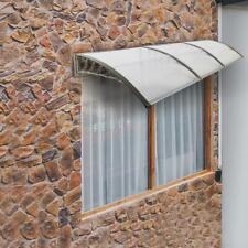 Goujxcy Window Door Awning,39x 39 Window Awning Overhead Door Polycarbonate Cover Front Door Outdoor Patio Canopy Sun Shetter,UV,Rain Snow Protection Hollow Sheet
