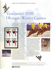 #846 44c Olympic 2010 #4436 USPS Commemorative Stamp Panel