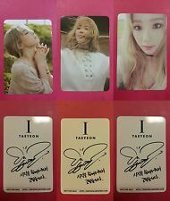 LOT of 3 TAEYEON I Official PHOTOCARD Full Set SNSD Solo Album Photo Card 태연