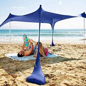 SUN NINJA Pop Up Beach Tent Sun Shelter UPF50 with Sand Shovel Ground Pegs and