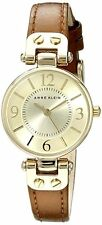 P10 Auction Anne Klein Women's 109442CHHY Gold-Tone Dial Brown Leather Watch